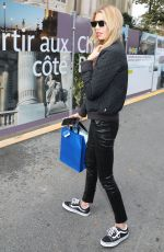 STELLA MAXWELL Leaves Chanel Show in Paris 10/03/2017