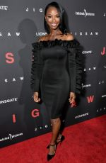 TAJA V. SIMPSON at Jigsaw Premiere in Los Angeles 10/25/2017