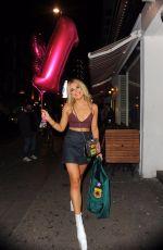 TALLIA STORM Leaves Her Birthday Party at Bunga Bunga Bar in London 10/25/2017