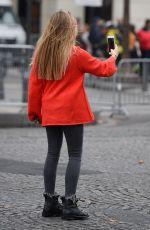 THYLANE BLONDEAU Out at Paris Fashion Week 10/01/2017