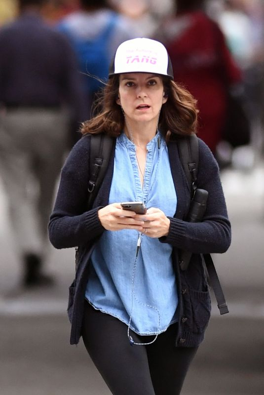 TINA FEY Out for Coffe in New York 10/09/2017