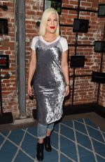 TORI SPELLING at Much Love Animal Rescue Spoken Woof in Los Angeles 10/07/2017