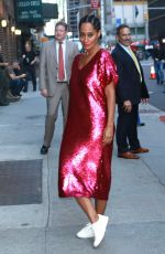 TRACEE ELLIS ROSS Arrives a Late Show with Stephen Colbert in New York 10/10/2017