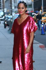 TRACEE ELLIS ROSS Arrives at Late Show with Stephen Colbert in New York 10/10/2017