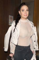TULISA CONTOSTAVLOS Out for Dinner at Nobu in London 10/25/2017