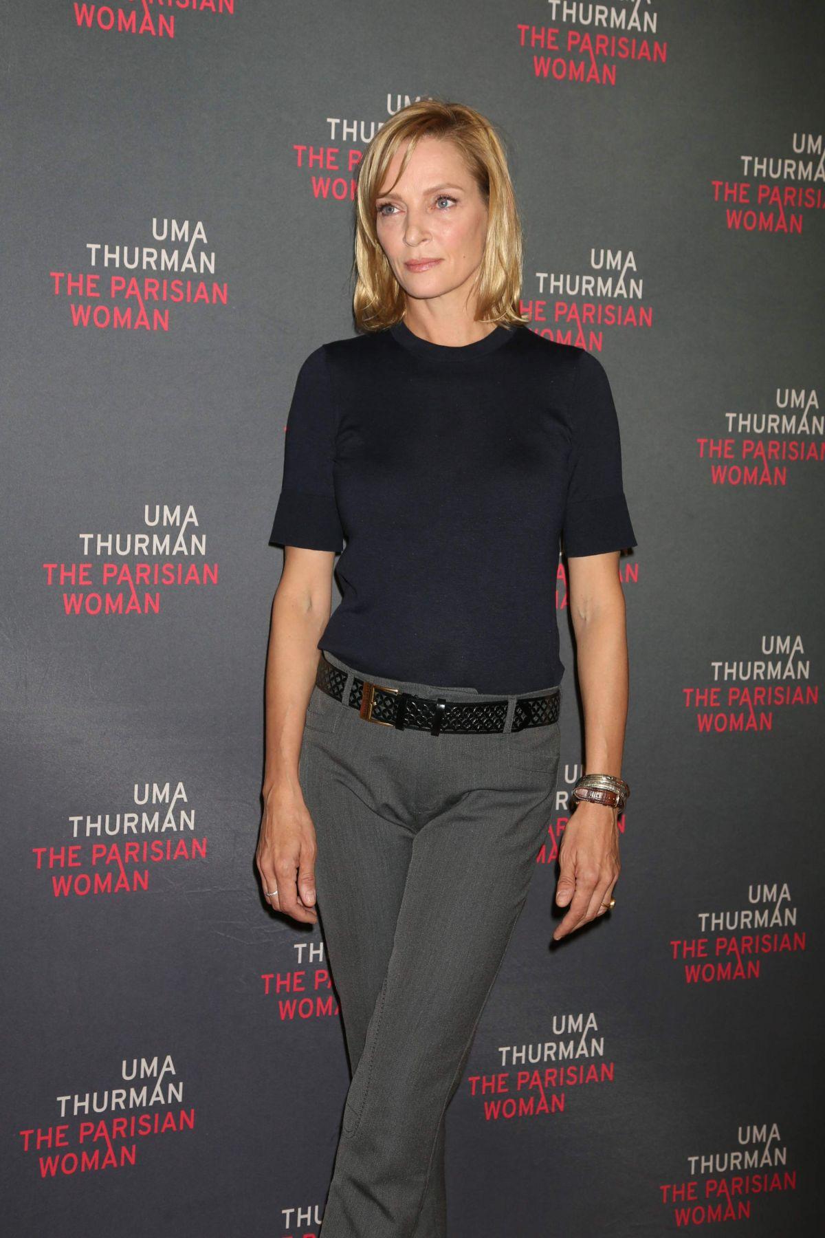 UMA THURMAN at The Par... Uma Thurman Broadway