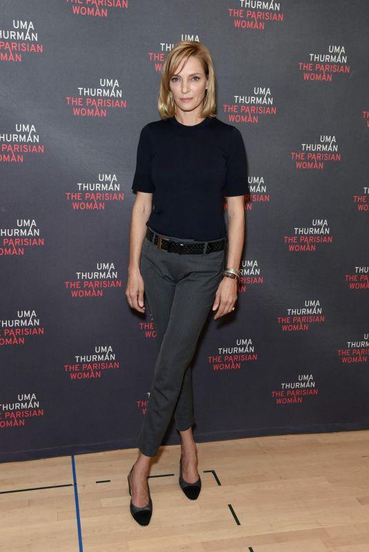 UMA THURMAN at The Parisian Woman Broadway Photocall in New York 10/18/2017