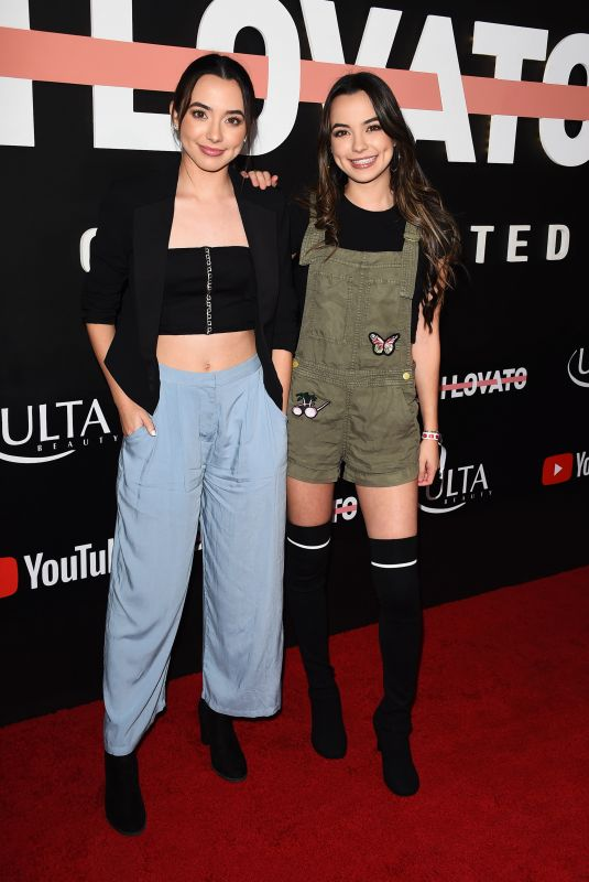 VANESSA and VERONICA MERRELL at Demi Lovato: Simply Complicated Youtube Premiere in Los Angeles 10/11/2017