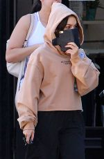 VANESSA HUDGENS Leaves Pilates Class in Studio City 10/10/2017
