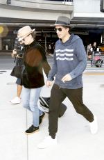 VANESSA PARADIS and Samuel Benchetrit at Los Angeles International Airport 10/27/2017