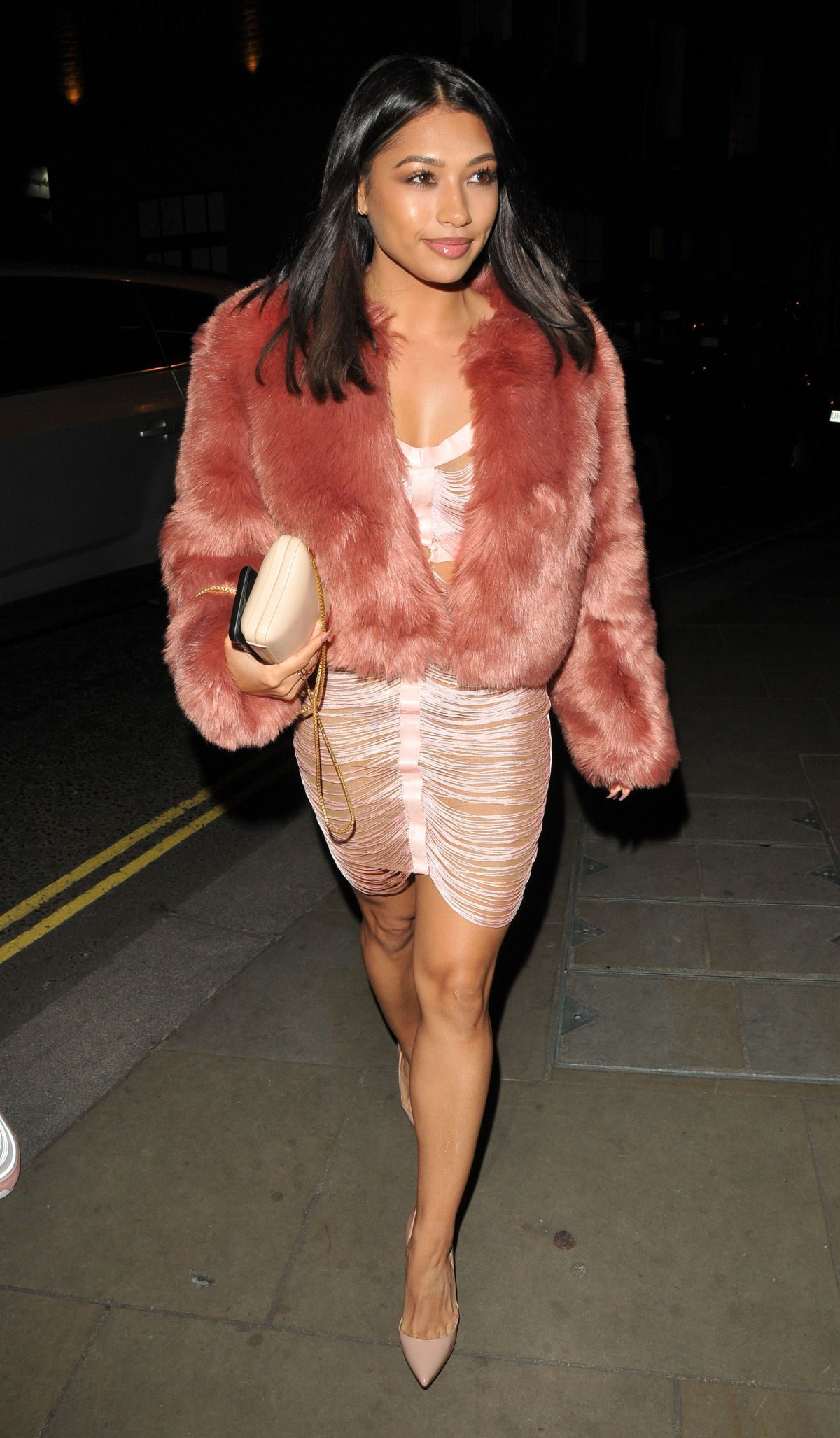 VANESSA WHITE Arrives at Her 28th Birthday Party in ...