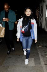 VANESSA WHITE at K-Way Flagship Store Opening in London 10/04/2017