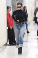 VICTORIA BECKHAM in Jeans at JFK Airport in New York 10/11/2017