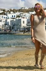 VICTORIA XIPOLITAKIS in Tight Dress on Vacation in Mykonos 10/13/2017