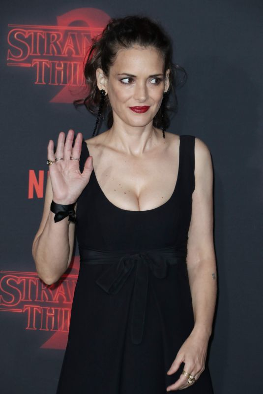 WINONA RYDER at Stranger Things Season 2 Premiere in Los Angeles 10/26/2017