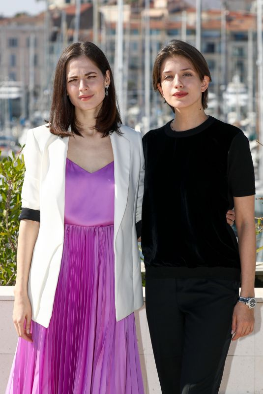 YULIYA SNIGIR and ANNA CHIPOVSKAYA at The Road to Calvary Photocall at Mipcom in Cannes 10/16/2017