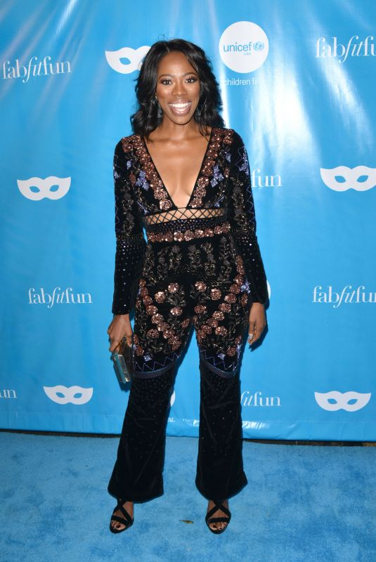 YVONNE ORJI at Unicef Next Generation Masquerade Ball in Los Angeles 10/27/2017