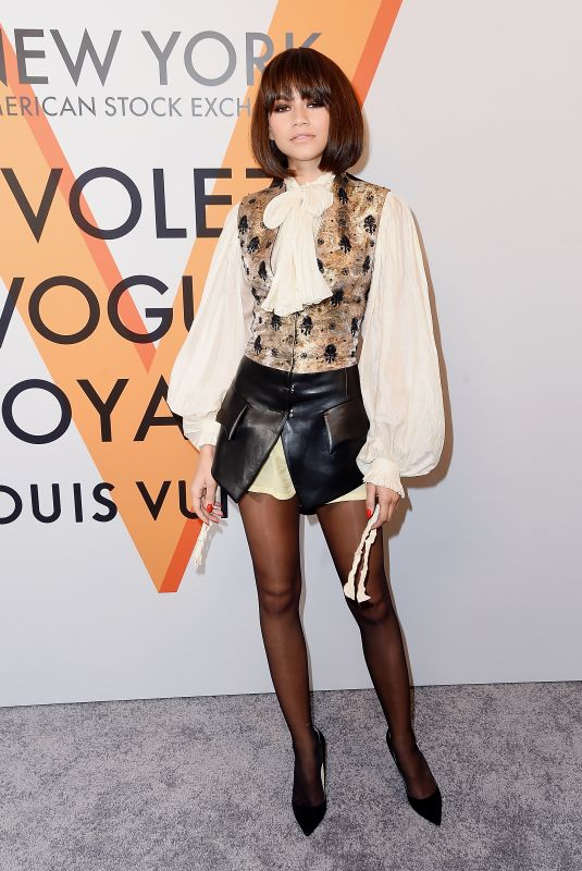 ZENDAYA COLEMAN at Volez, Voguez, Voyagez: Louis Vuitton Exhibition Opening in New York 10/26/2017