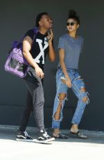 ZENDAYA COLEMAN Out with Her Brother Austin in Los Angeles 10/01/2017