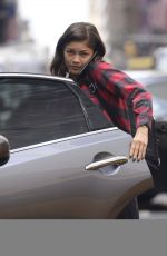 ZENDAYA COLEMAN Without Make-up Leaves Her Hotel in New York 10/07/2017