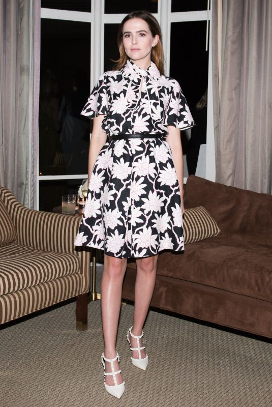 ZOEY DEUTCH at Valentino and Instyle Cocktail Party in Los Angeles 10/22/2017