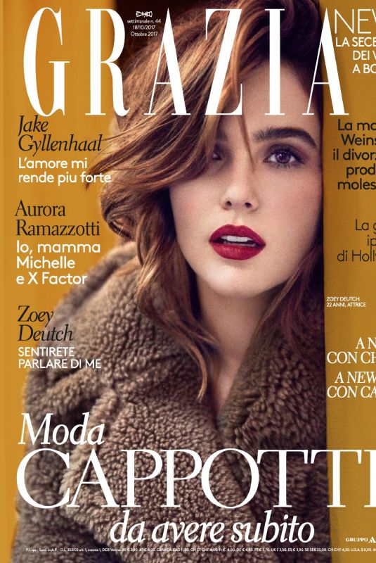 ZOEY DEUTCH in Grazia Magazine, Italy October 2017 Issue