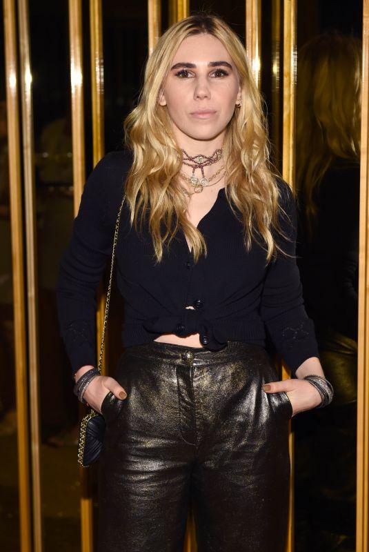 ZOSIA MAMET at V Magazine Dinner in Honor of Karl Lagerfeld in New York 10/23/2017
