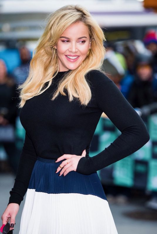 ABBIE CORNISH at AOL Build Series in New York 11/08/2017
