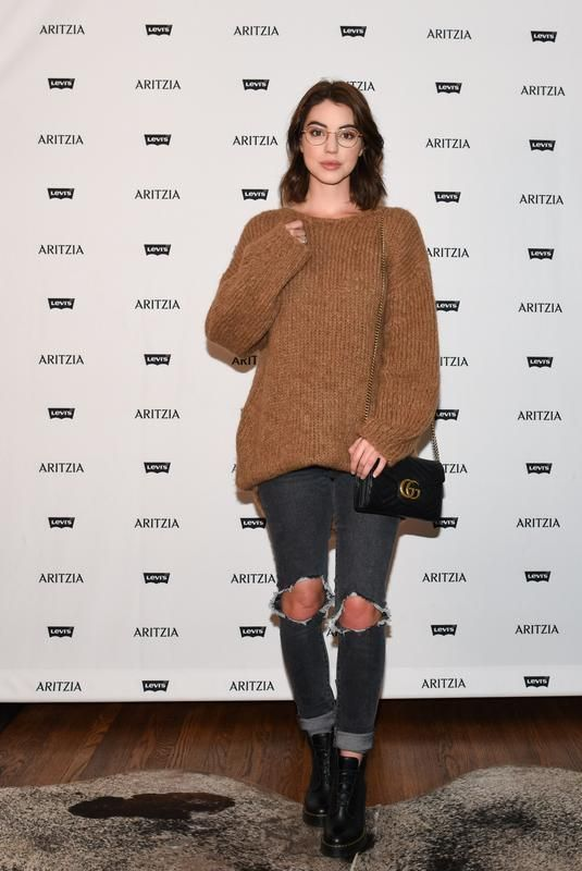 ADELAIDE KANE at Levi's by Aritzia Collection Launch in Los Angeles 11/16/2017