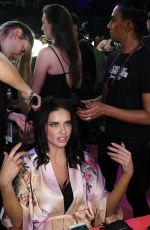 ADRIANA LIMA on the Backstage at 2017 VS Fashion Show in Shanghai 11/20/2017