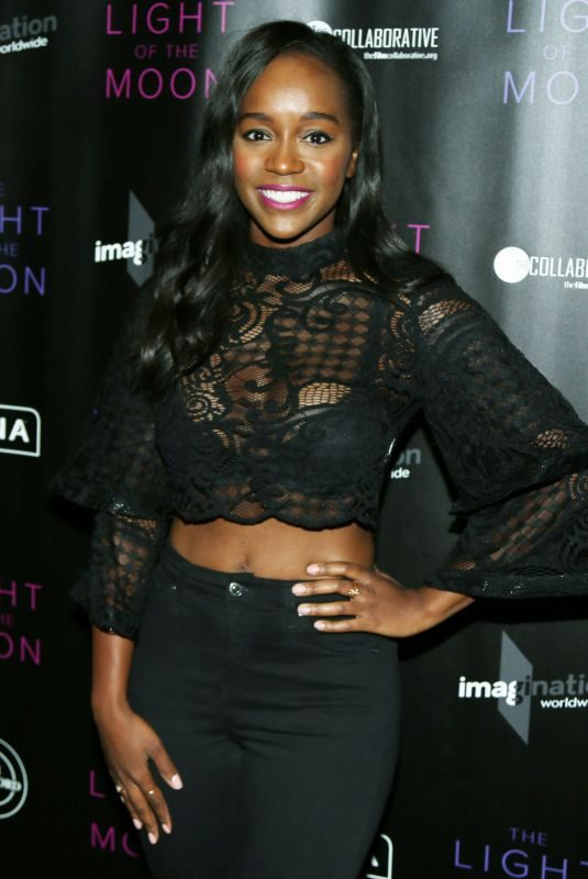 AJA NAOMI KING at The Light of the Moon Special Screening in Los Angeles 11/16/2017