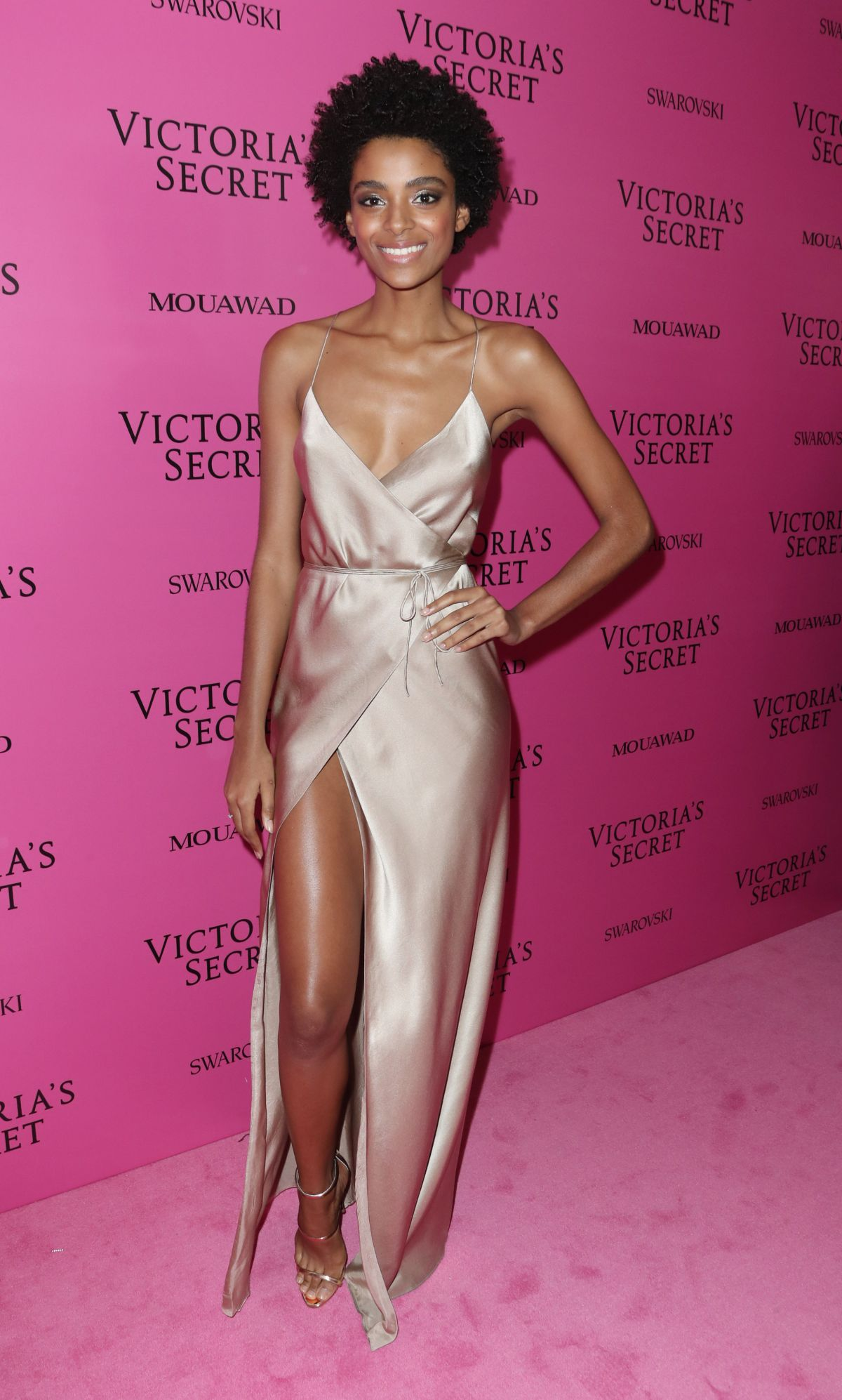 Models hit the pink carpet for the 2017 Victoria s Secret 55