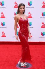 ALESKA CATELLANO at Latin Grammy Awards 2017 in Las Vegas 11/16/2017