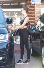 ALESSANDRA AMABROSIO Leaves Morning Workout in Brentwood 11/14/2017