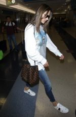 ALESSANDRA AMBROSIO at Los Angeles International Airport 11/08/2017