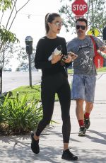 ALESSANDRA AMBROSIO Heading to a Gym in Los Angeles 11/06/2017