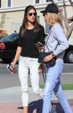 ALESSANDRA AMBROSIO Leaves Alfred Coffee in Brentwood 11/14/2017