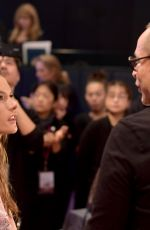 ALESSANDRA AMBROSIO on the Backstage at 2017 VS Fashion Show in Shanghai 11/20/2017