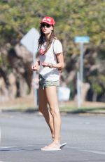 ALESSANDRA AMBROSIO Out Rides Her Bicycle in Santa Monica 11/23/2017