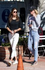 ALESSANDRA AMBROSIO Out with Friend in Los Angeles 11/14/2017