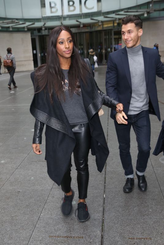 ALEXANDRA BURKE and Gorka Marquez Leaves BBC Studios in London 11/15/2017
