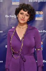 ALIA SHAWKAT at 2017 IFP Gotham Independent Film Awards in New York 11/27/2017