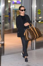 ALICIA VIKANDER Arrives at JFK Airport in New York 10/31/2017