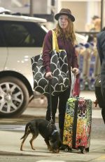 ALICIA WITT at LAX Airport in Los Angeles 11/19/2017