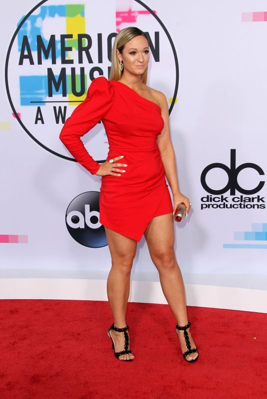 ALISHA MARIE at American Music Awards 2017 at Microsoft Theater in Los Angeles 11/19/2017