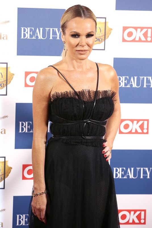 AMANDA HOLDEN at OK! Magazine Beauty Awards in London 11/28/2017