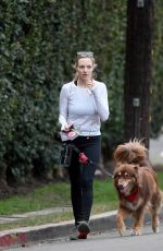 AMANDA SEYFRIED with Her Dog Finn Hikking at Runyon Canyon in Los Angeles 11/28/2017