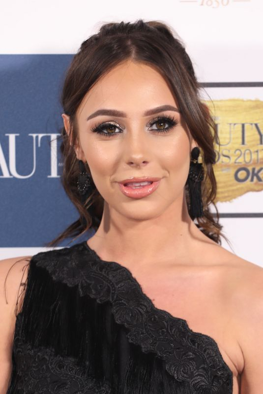 AMBER DOWDING at OK! Magazine Beauty Awards in London 11/28/2017