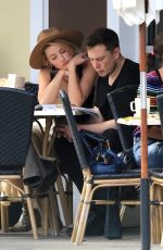 AMBER HEARD and Elon Musk out for Breakfast at Sweet Butter Kitchen in Sherman Oaks 11/17/2017