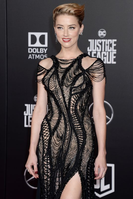 AMBER HEARD at Justice League Premiere in Los Angeles 11/13/2017